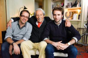 Les auteurs Quentin Leclerc (à gauche), Michel Pimpant et Jean Rochefort.