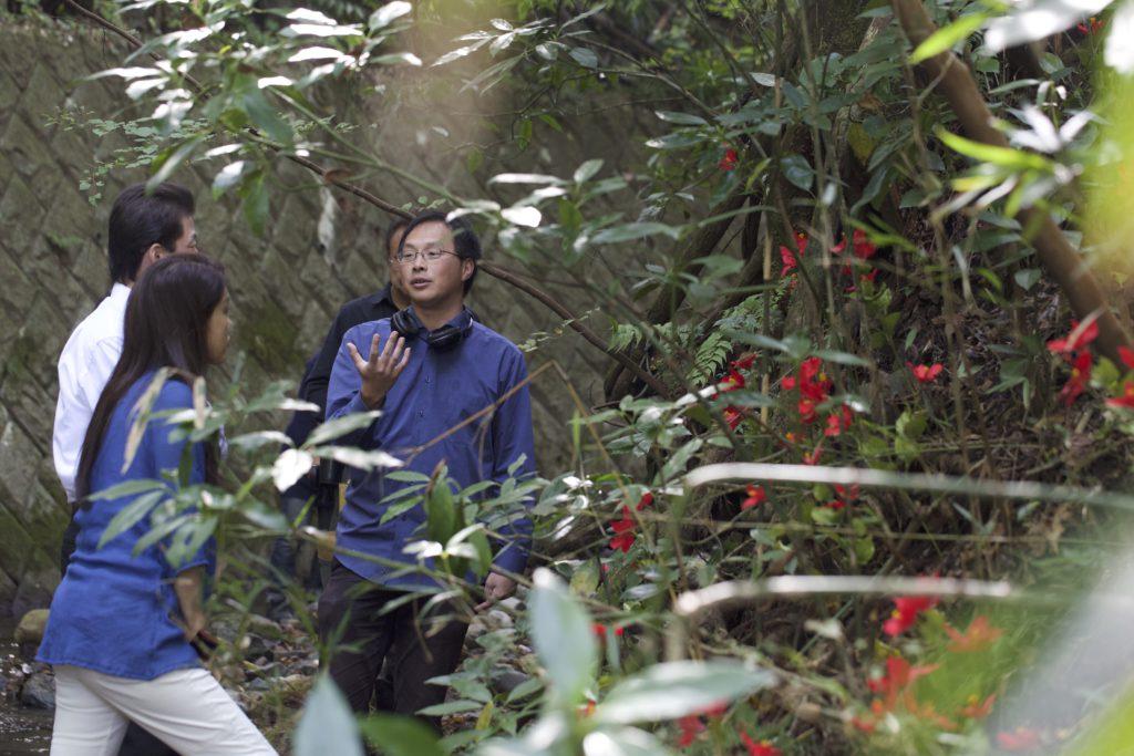 Koji Fukada sur le tournage